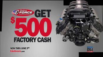 Edelbrock E-Force Supercharged Rebate Offer TV Spot