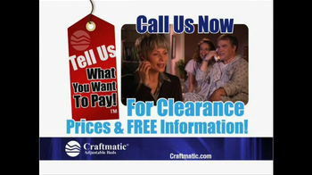Craftmatic Memorial Day Warehouse Clearance Event TV Spot - Thumbnail 3
