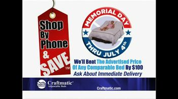 Craftmatic Memorial Day Warehouse Clearance Event TV Spot