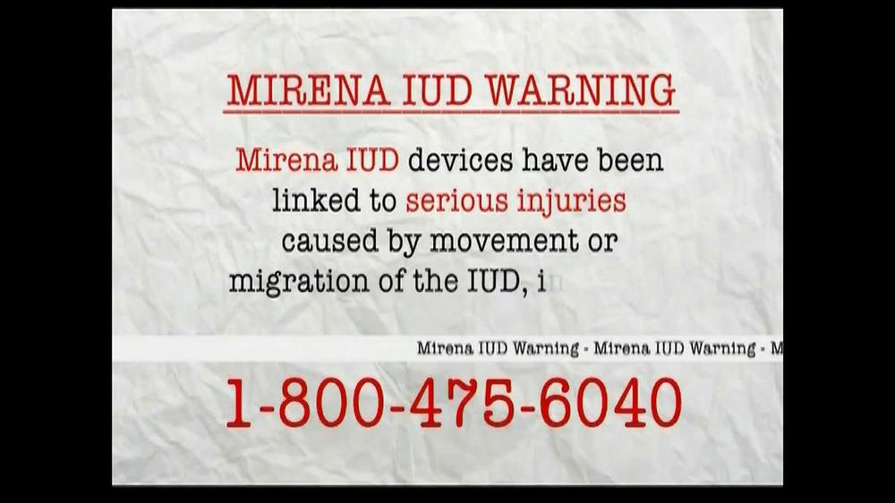 AkinMears TV Commercial, 'Mirena IUD Warning'