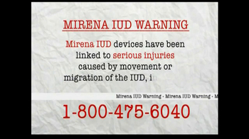 AkinMears TV Spot, 'Mirena IUD Warning'