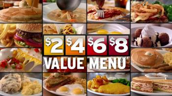 Denny's 2, 4, 6, 8 Value Menu TV Spot, 'Little Air Time'