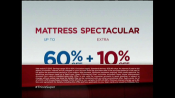 Sears Memorial Day Mattress Spectacular TV Spot, 'Man of Steel' - Thumbnail 4