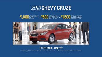 2013 Chevrolet Cruze TV Spot, 'Memorial Day Sale' - Thumbnail 8