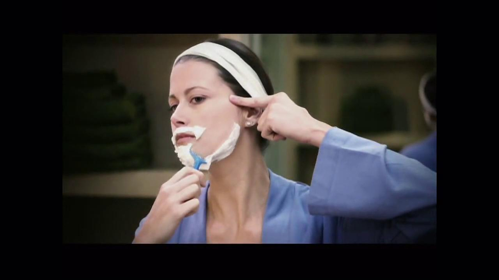 No! No! TV Commercial, 'No Shaving Like a Man'