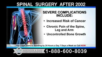 Aaronson and Rash TV Spot, 'Spinal Surgery'