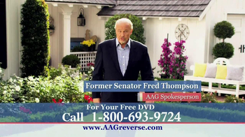 American Advisors Group TV Spot, 'Retirement' Featuring Fred Thompson - 28 commercial airings