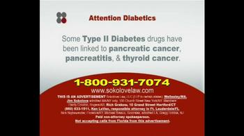 Sokolove Law TV Spot, 'Type 2 Diabetes'