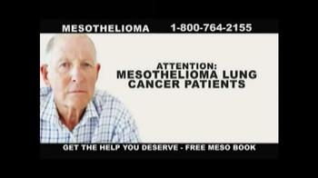 Danziger & De Llano TV Spot, 'Mesothelioma Lung Cancer Patients' - Thumbnail 1