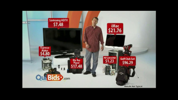 Quibids.com TV Spot, 'Best Place to Get Deals'