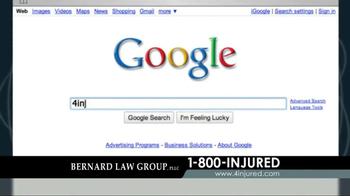 Bernard Law Group TV Spot, 'Google Search' - Thumbnail 1
