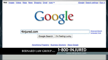 Bernard Law Group TV Spot, 'Google Search' - Thumbnail 2