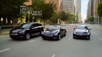 Infiniti Limited Engagement Spring Event TV Spot, 'Unravel' - 2133 commercial airings