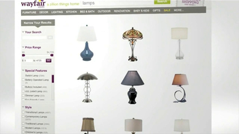 Wayfair TV Spot, 'Lamp and Sofa' - Thumbnail 2