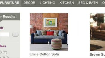 Wayfair TV Spot, 'Lamp and Sofa' - Thumbnail 4