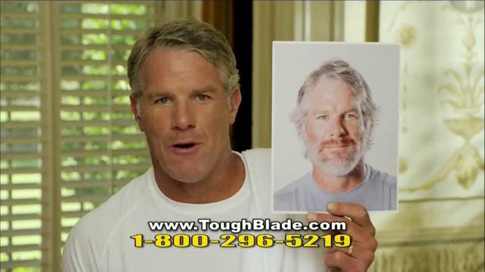 microtouch tough blade tv commercial featuring brett favre. Black Bedroom Furniture Sets. Home Design Ideas