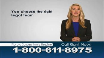 Beasley Allen Law Firm TV Spot, 'Fibroid Surgery Injury Helpline' - Thumbnail 1