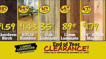 Lumber Liquidators End of Year Clearance Sale TV Spot, 'All Must Go!' - Thumbnail 4