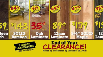 Lumber Liquidators End of Year Clearance Sale TV Spot, 'All Must Go!' - Thumbnail 5