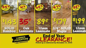 Lumber Liquidators End of Year Clearance Sale TV Spot, 'All Must Go!' - Thumbnail 6