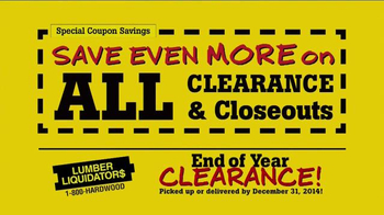 Lumber Liquidators End of Year Clearance Sale TV Spot, 'All Must Go!' - Thumbnail 7