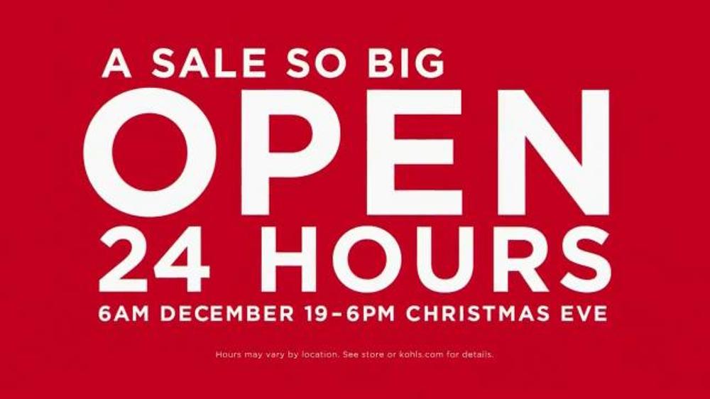 Kohl S Tv Commercial Open 24 Hours Video