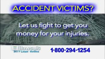 iLawsuit Legal Hotline TV Spot, 'Accident Victims' - Thumbnail 1