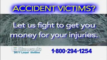 iLawsuit Legal Hotline TV Spot, 'Accident Victims' - Thumbnail 2