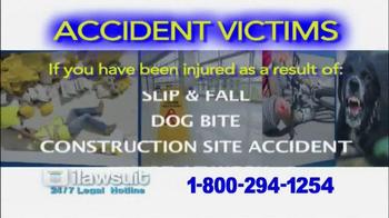 iLawsuit Legal Hotline TV Spot, 'Accident Victims' - Thumbnail 3