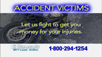 iLawsuit Legal Hotline TV Spot, 'Accident Victims' - Thumbnail 5