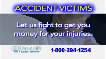 iLawsuit Legal Hotline TV Spot, 'Accident Victims' - Thumbnail 6