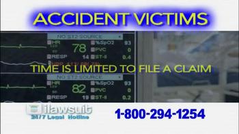 iLawsuit Legal Hotline TV Spot, 'Accident Victims' - Thumbnail 7