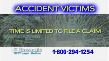 iLawsuit Legal Hotline TV Spot, 'Accident Victims' - Thumbnail 8