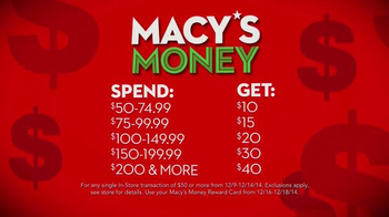 Macy's Money TV Spot, 'The More You Buy The More You Get' - Thumbnail 9