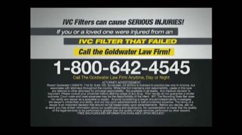 Goldwater Law Firm TV Spot, 'IVC Filter Warning' - Thumbnail 10