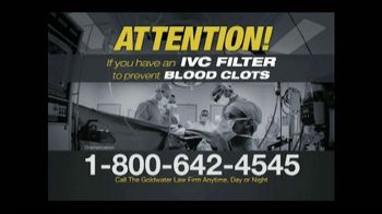 Goldwater Law Firm TV Spot, 'IVC Filter Warning' - Thumbnail 2