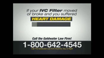 Goldwater Law Firm TV Spot, 'IVC Filter Warning' - Thumbnail 5