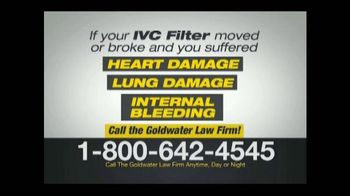 Goldwater Law Firm TV Spot, 'IVC Filter Warning' - Thumbnail 6