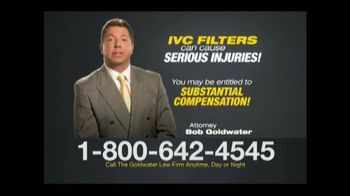 Goldwater Law Firm TV Spot, 'IVC Filter Warning' - Thumbnail 7