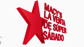 Macy's La Venta de Súper Sábado TV Spot, 'Viernes y Sábado' [Spanish] - Thumbnail 1