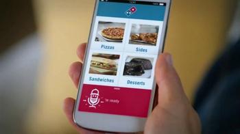 Domino's Voice Ordering App Pizza TV Spot, 'It's Football Sunday' - Thumbnail 5