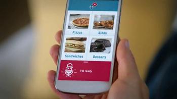 Domino's Voice Ordering App Pizza TV Spot, 'It's Football Sunday' - Thumbnail 6