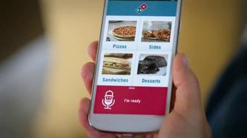 Domino's Voice Ordering App Pizza TV Spot, 'It's Football Sunday' - Thumbnail 7