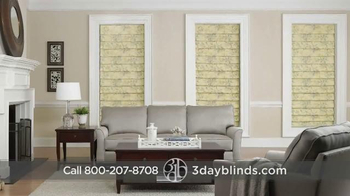 3 Day Blinds TV Spot, 'Custom Blinds, Shades, Shutters, Curtains & Drapes' - Thumbnail 1