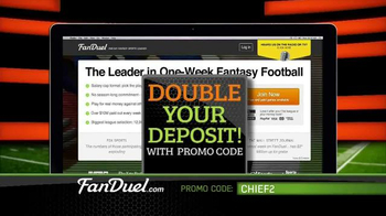 FanDuel Fantasy Football One-Week Leagues TV Spot, 'All the Excitement' - Thumbnail 10