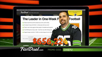 FanDuel Fantasy Football One-Week Leagues TV Spot, 'All the Excitement' - Thumbnail 9