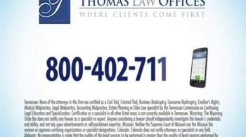 Thomas Law Offices TV Spot, 'Cipro, Levaquin & Avelox Warning' - Thumbnail 10