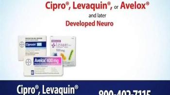Thomas Law Offices TV Spot, 'Cipro, Levaquin & Avelox Warning' - Thumbnail 2