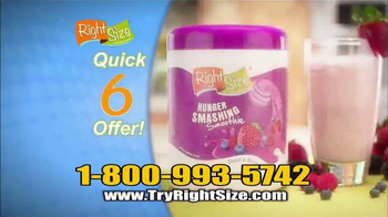 Right Size Health & Nutrition TV Spot, 'Quick 6' - Thumbnail 8