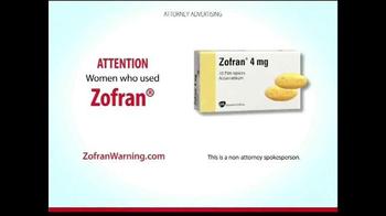 Curtis Law Group TV Spot, 'Zofran Warning' - Thumbnail 1